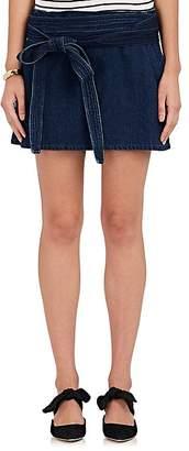 J.W.Anderson Women's Waist-Tie Denim Miniskirt