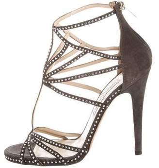 Jimmy Choo Suede Embellished Sandals