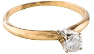 Ring 14K Diamond Solitaire Band