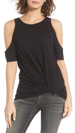 Women's Bp. Twist Front Cold Shoulder Tee