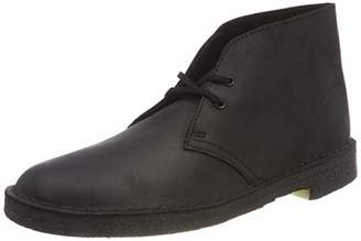 Clarks Men's Desert Boots, (Black Smooth Leather)
