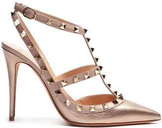 Valentino Rockstud T-bar leather pumps
