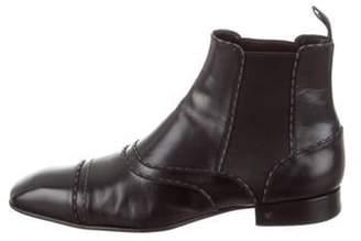 Louis Vuitton Leather Chelsea Boots black Leather Chelsea Boots