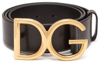 Dolce & Gabbana Buckle Leather Belt - Mens - Black