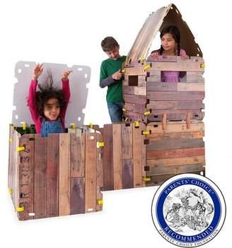 HearthSong Kids Fantasy Fort - Kids Building Kit & Connectors With 16 Cardboard Panels