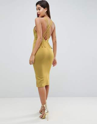 Asos DESIGN Strappy Back Midi Bodycon Dress