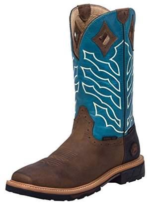 Justin Original Work Men Peanut Wyoming Square Steel Toe Work Boot