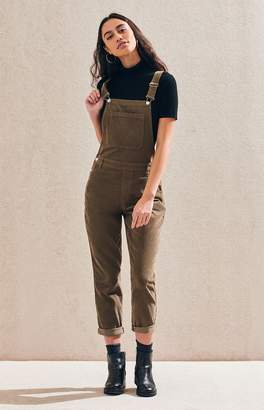 PacSun Olive Corduroy Overalls