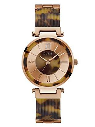 GUESS Women's Quartz Stainless Steel and Resin Watch