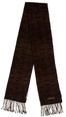 Versace Wool & Silk-Blend Patterned Scarf