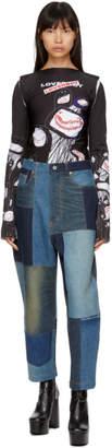 Junya Watanabe Indigo Patchwork Drop Jeans