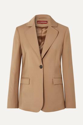 ALEXACHUNG Ludlow Wool-blend Blazer - Camel