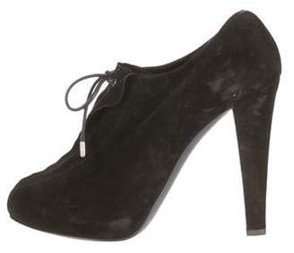 Giuseppe Zanotti x Thakoon Suede Lace-Up Booties