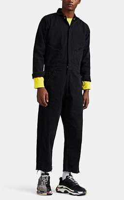 """424 Men's """"Your Life Is Meaningless"""" Cotton Jumpsuit - Black"""