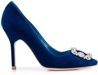 Manolo Blahnik embellished buckle high-heel pumps