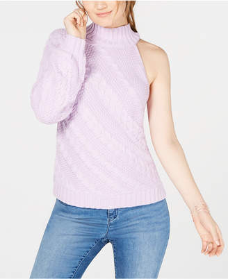 INC International Concepts I.N.C. Asymmetric Cable One-Shoulder Sweater, Created for Macy's