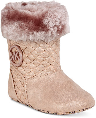 Michael Kors Baby Girls' Kelly Faux-Fur Boots $46 thestylecure.com
