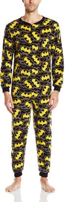 Briefly Stated Men's Batman Reverse Shield Blanket Sleeper Onesie
