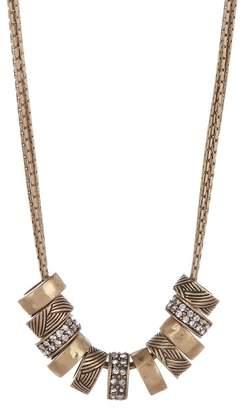 The Sak Multi-Strand Pave Ring Pendant Necklace