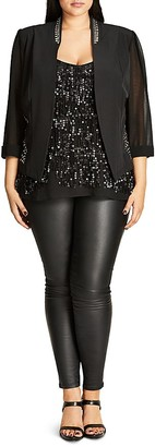 City Chic Stud Magic Jacket $79 thestylecure.com