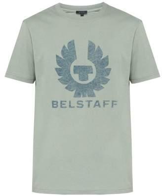Belstaff Coteland Logo Print Cotton Jersey T Shirt - Mens - Green