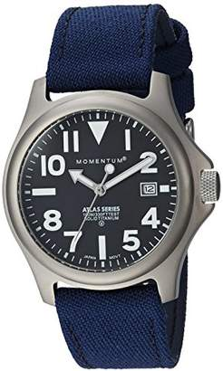 Momentum Men's 'Atlas 38' Quartz Titanium and Canvas Casual Watch