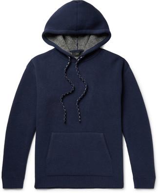 Alanui Intarsia Wool and Cashmere-Blend Hoodie - Men - Blue