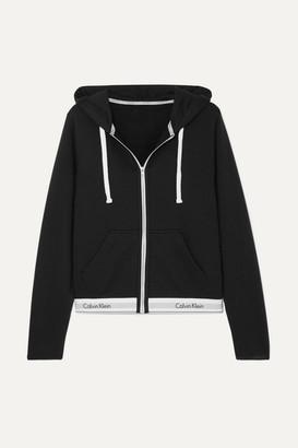 Calvin Klein Underwear Cotton-blend Jersey Hooded Top - Black