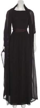 Akris Backless Evening Dress