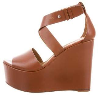 Polo Ralph Lauren Leather Wedge Sandals