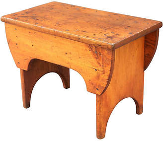 One Kings Lane Vintage Antique American Pine Bench - Faded Rose Antiques LLC