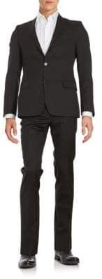 Versace Regular-Fit Tonal Striped Wool Suit