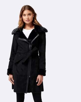 Forever New Rylee Shearling Coat