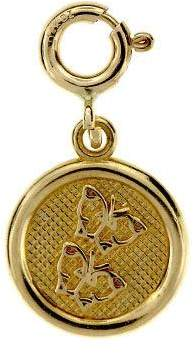 Dazzlers 14K Yellow Gold Friendship Circle Charm