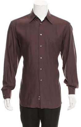 Gucci Herringbone Button-Up Shirt