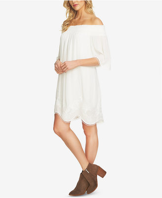 1.state Off-The-Shoulder Shift Dress $159 thestylecure.com