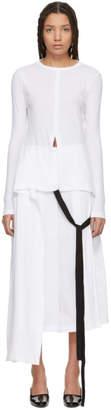 Rosetta Getty White Split Apron T-Shirt