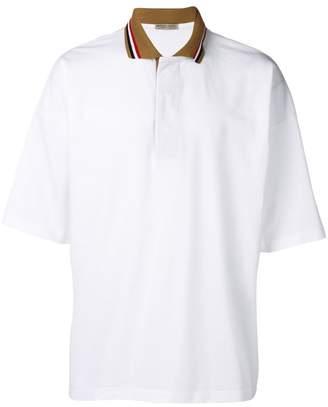 Bottega Veneta striped-collar polo shirt