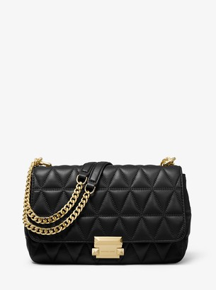 Sloan Small Chain Shoulder Bag in Gold Pyramid Quilted Maya Met Leather Michael Michael Kors JUjcAf1ji