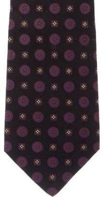 Kiton Geometric Jacquard Silk Tie