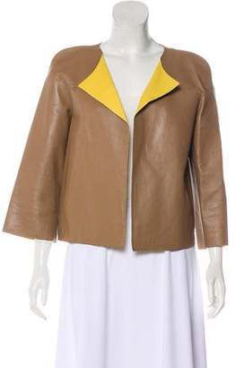 Marni Colorblock Leather Jacket