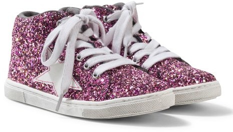 Lelli Kelly Kids Laila Fuchsia Pink Star Sequinned Trainers