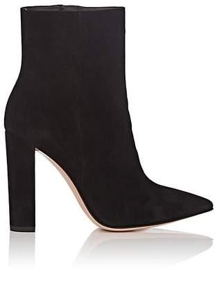 Gianvito Rossi Women's Piper Suede Ankle Boots - Black