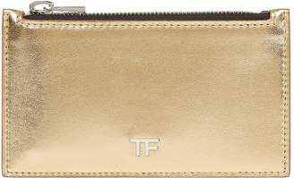 Tom Ford Metallic Leather Zipped Card Holder