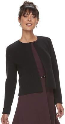 Elle Women's Textured Open-Front Cardigan