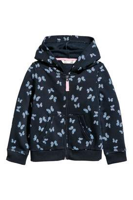 H&M Hooded Jacket - Dark blue/butterflies - Kids