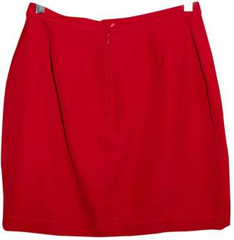 Thierry Mugler Red Wool Skirts