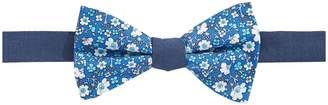 Tommy Hilfiger Floral-Print Silk Bow Tie