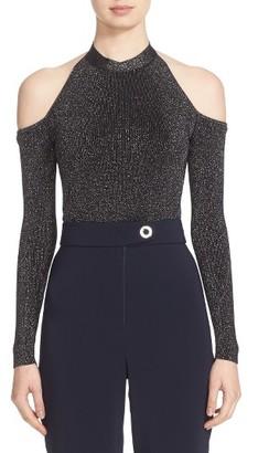 Women's Cushnie Et Ochs Knit Cold Shoulder Bodysuit $725 thestylecure.com