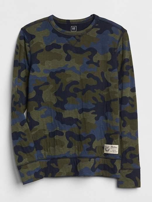 Print Crewneck Sweater
